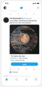 Twitterプロモ広告のアプリのインストール数キャンペーン広告
