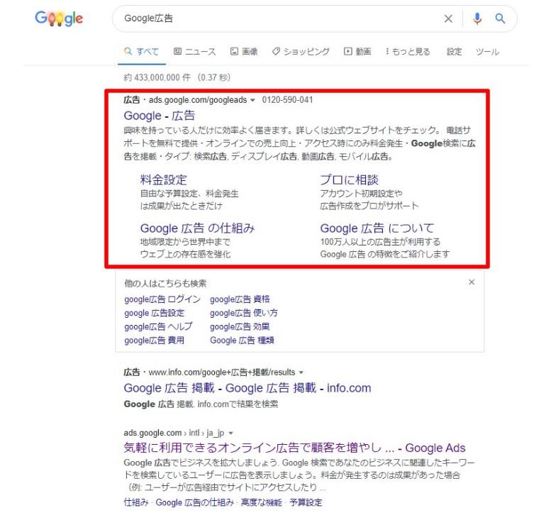 Google広告の最終ページURL