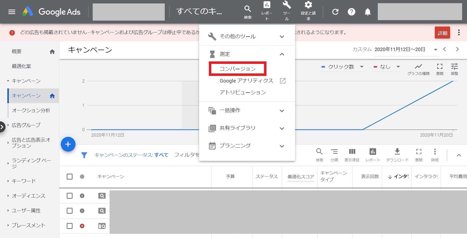 Google広告のコンバージョン測定