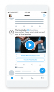 Twitterの動画カンバセーションボタン