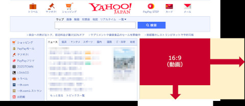 Yahoo!広告ブランドパネルの拡大表示